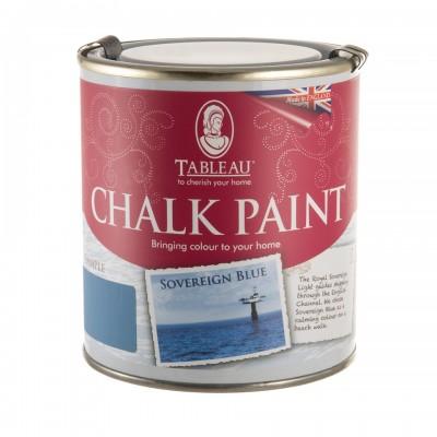 Меловая краска для мебели синяя