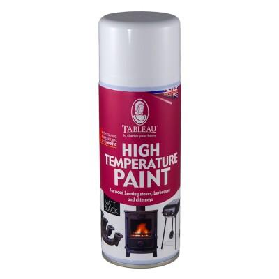 Термостойкая краска по металлу аэрозоль Tableau Черная