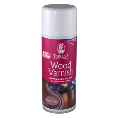 Лак спрей для дерева Wood Varnish Темный дуб