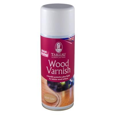 Лак для дерева Tableau Wood Varnish Аэрозоль Светлый дуб - BleskDom приобрести